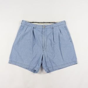 90s Polo Ralph Lauren Mens 36 Chambray Shorts Blue